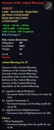 Gussets of the Ardent Blessing