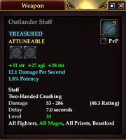 Outlander Staff