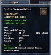 Staff of Darkened Mists