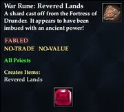 War Rune Revered Lands