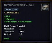 Frayed Gardening Gloves