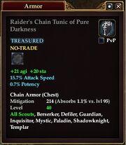 Raider's Chain Tunic of Pure Darkness