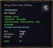 Ring of the Dark Mother