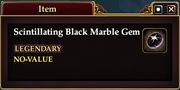 Scintillating Black Marble Gem