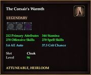 The Corsair's Warmth
