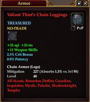 Valiant Thief's Chain Leggings