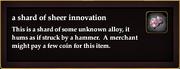 A shard of sheer innovation