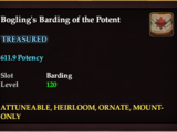 Bogling's Barding of the Potent