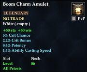 Boom Charm Amulet