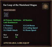 Ear Loop of the Wasteland Magus