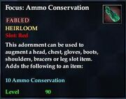 Focus Ammo Conservation