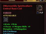 Otherworldly Spiritwalker's Umbral Rune Coif