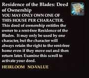 Residence of the blades deed