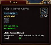 Adept's Woven Gloves