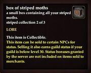 Box of striped moths