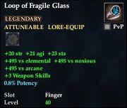 Loop of Fragile Glass