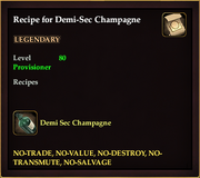 Recipe for Demi-Sec Champagne