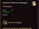 Recipe for Demi-Sec Champagne