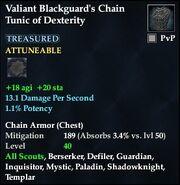 Valiant Blackguard's Chain Tunic of Dexterity