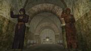 A decrepit crypt
