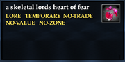 A skeletal lords heart of fear