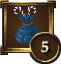 Achievement Icon blue bag of candycanes 5