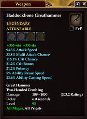 Haddockbone Greathammer