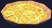 Shallow basket of oranges (Visible)