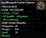 Spellbound Cerise Gloves
