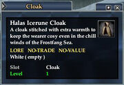 Halas Icerune Cloak