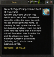 Isle of Refuge Prestige Home Deed of Ownership