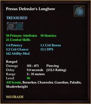 Prexus Defender's Longbow