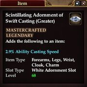 Scintillating Adornment of Swift Casting (Greater)