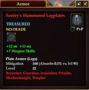 Sentry's Hammered Legplates