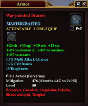 War-painted Bracers