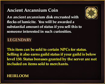 Ancient Arcannium Coin | EverQuest 2 Wiki | FANDOM powered
