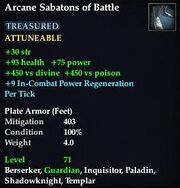 Arcane Sabatons of Battle