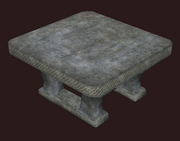 Hewn Stone Square Table