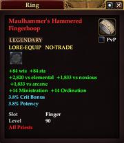 Maulhammer's Hammered Fingerhoop