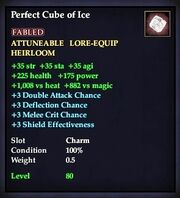 Perfect Cube of Ice
