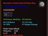 Ravener's Chain Coif of Many Foes (0 Gem)