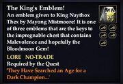 The King's Emblem