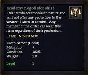 Academy negotiator shirt