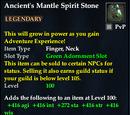 Ancient's Mantle Spirit Stone