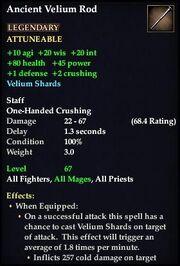 Ancient Velium Rod (Version 1)