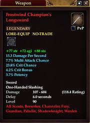 Frostwind Champion's Longsword