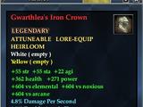 Gwarthlea's Iron Crown