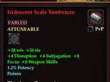 Iridescent Scale Vambraces