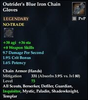 Outrider's Blue Iron Chain Gloves