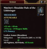 Watcher's Shoulder Pads of the Lifebringer